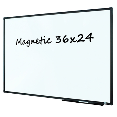 Lockways Magnetic Dry Erase Board - Whiteboard 36 x 24 / White Board 3 x 2, Ultra-Slim Black Aluminium Frame, 1 Aluminum Marker Tray, 1 Dry Erase Markers, 2 Magnets for School, Home, Office